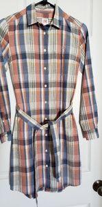 Lacoste Live Button Down Dress w/ Belt